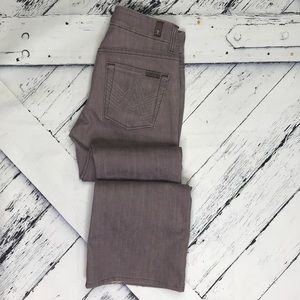 """7 FOR ALL MANKIND Purple """"A"""" Pocket Bootcut Jeans"""